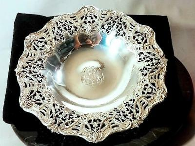 Antique Sterling Silver BLACK STARR & FROST Specially Designed Reticulated Bowl
