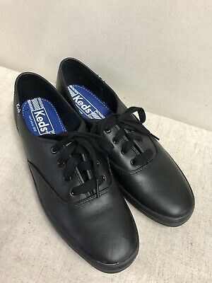 5c4bd8a4aec8e NWOB KEDS BLACK Leather Champion Shoes WH45780 -Women s size 11 New ...