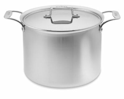 All-Clad D55512 D5 Polished 18/10 Stainless Steel 5-Ply 12-Qt Stock Pot with Lid