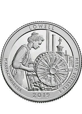 2019 D Lowell National Historical Park: America the Beautiful Quarter BU