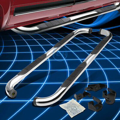 """Chrome Stainless 3"""" Side Step Nerf Bar For 2001-2004 Toyota Tacoma Double Cab"""