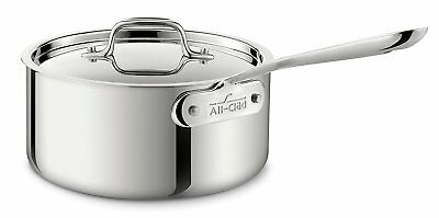 All-Clad 4203 Stainless Steel Non-Stick Tri-Ply Bonded 3-qt Sauce Pan with Lid