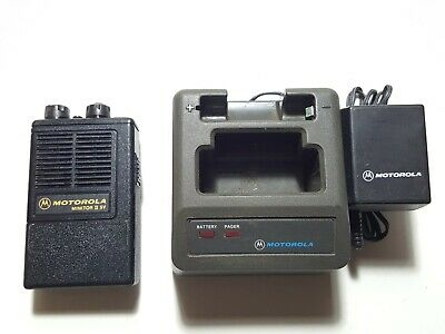 Motorola Minitor II SV (STORED VOICE) VHF 153.770MHz FIRE EMS PAGER W/CHARGER
