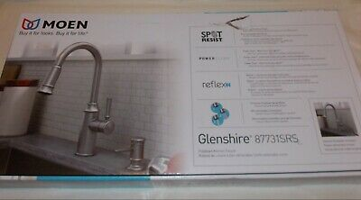 Moen Glenshire 87731SRS Spot Resist Stainless Pull-Down Sprayer Kitchen Faucet