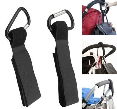 4 PCs Set Baby Stroller Hanger Hook Accessory Wheelchair Pram Carriage Bag Clip