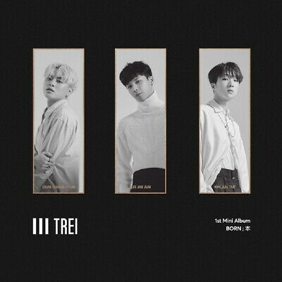 TREI - BORN ; 本 (1st Mini) CD+52p Photobook+Photocard+Tracking no.