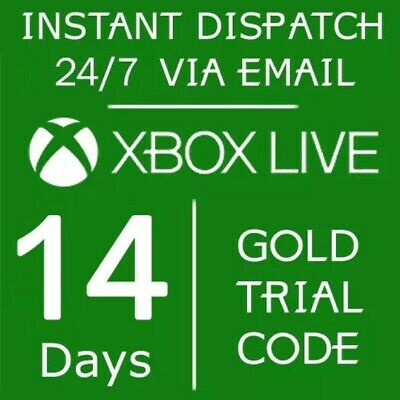Microsoft Live Gold 14 days 2 Week Membership Trial Gold Code Instant DISPATCH