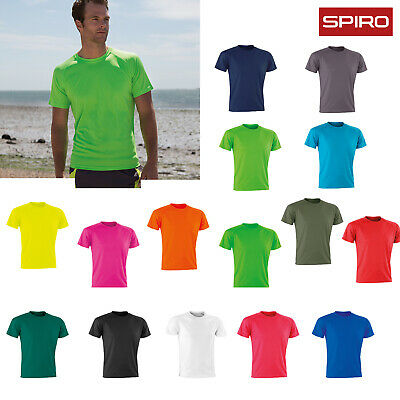 Spiro Performance Aircool Tee (S287X) - Adults Plain Casual Sports T-Shirt