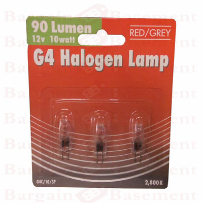 Pack of  3 G4 12 Volt 10W Or 20W Halogen Capsule Light Bulbs Lamps Long Life New
