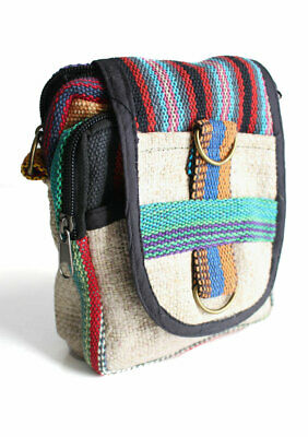 43d8f282f851 NATURAL HEMP COTTON Cross Body Bags with Cotton Straps