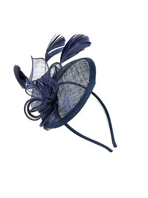 Navy Headband Aliceband Hat Fascinator Weddings Ladies Day Race Royal Ascot 23