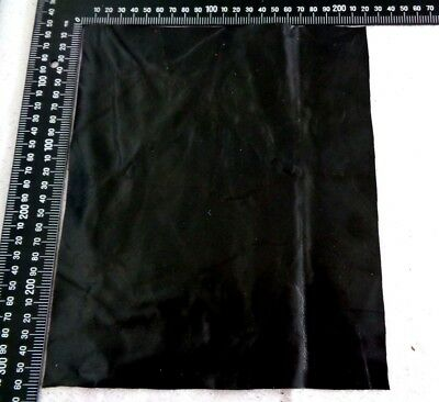 Brand New BLACK 24x22cm,1 Piece GENUINE LEATHER -SCRAPS, OFF CUTS for CRAFTS