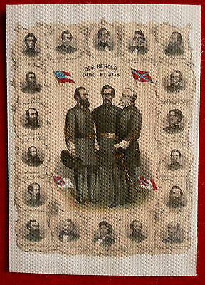 """CANVAS FLAG from """"The Civil War Chronicles"""" Trading Cards by Cult Stuff"""