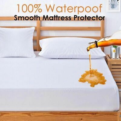 Hypoallergenic Mattress Protector Cotton Terry Waterproof Cover Bed Fitted Sheet