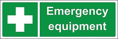 Emergency equipment Safety sign