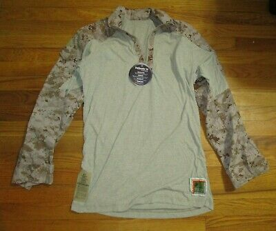 Nwt Usmc Frog Shirt Desert Digital Defender-M Frc Fabric M-R Medium Regular