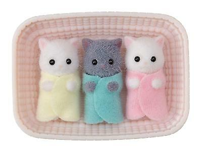 Sylvanian Families Persian Gray Cat Baby Triplets NI-109 Epoch From Japan