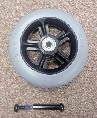 """Solid 5"""" Front Castor Wheel for the Invacare Action 3 Junior Wheelchair"""