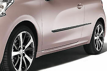 New, genuine Peugeot 208 protective door moulding strips, 1607226780.