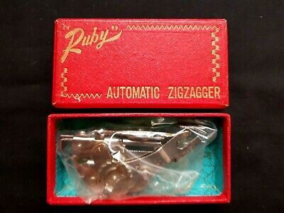Vintage Sewing Machine Parts Accessories Ruby Automatic Zigzagger Boxed Working