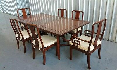 Chinese Antique Rosewood Dining Table w/6 Chairs set