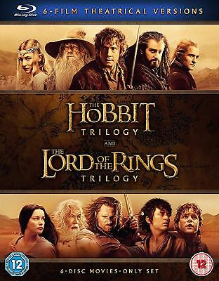 The Hobbit Trilogy The Lord of the Rings Trilogy Theatrical Version Blu Ray Neu
