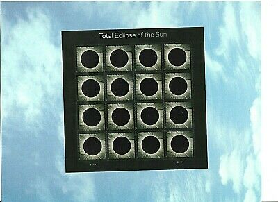 2017 Solar #5211 Total Eclipse Of The Sun 16, Forever Stamp Sheet