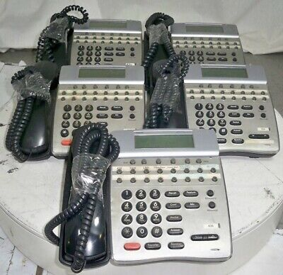 Lot of 5*NEC Dterm Series DTR-16D-1 BK TEL Business Office Phones SEE NOTES