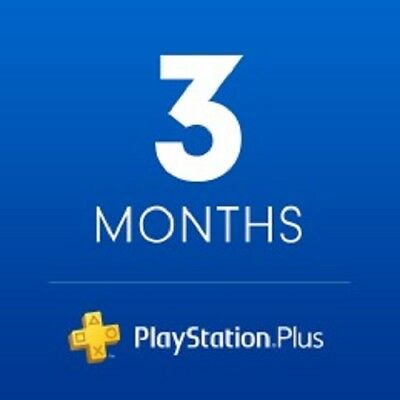 New! Sony PlayStation Plus 3 month Membership Digital Code Fast Email Delivery