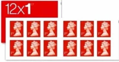 Royal Mail Stamps 12 x FIRST 1st class Stamps in NEW ORIGINAL PO BOOKS