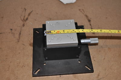 Ealing Optics Breadboard Vertical Translation Stage With Starrett Micrometer 56