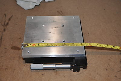 Optical Laser Bench Breadboard Linear Stage Positioner Starrett Heavy Duty [10]