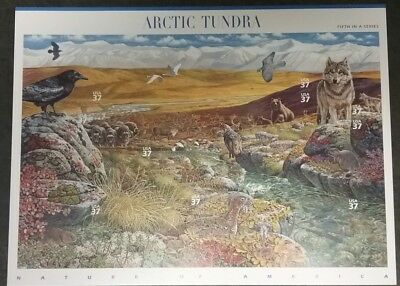 Nature Of America Arctic Tundra Stamp Sheet 5th In Series (10) Stamps