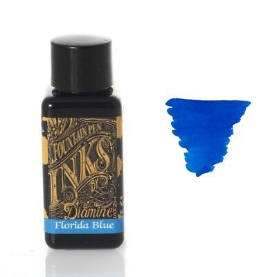 Diamine - Fountain Pen Ink, Florida Blue 30ml