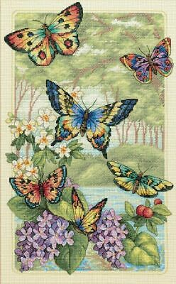 """DIMENSIONS GOLD COLLECTIONS""""BUTTERFLY FOREST""""CROSS STITCH KIT Kreuzstich STICKPA"""