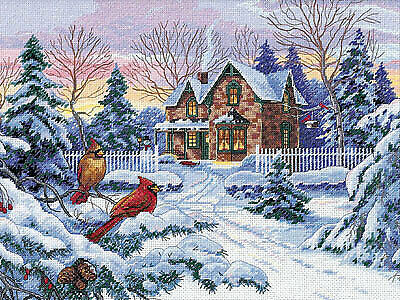 "DIMENSIONS GOLD COLLECTIONS""WINTER MEMORIES""CROSS STITCH KIT Kreuzstich STICKPAC"