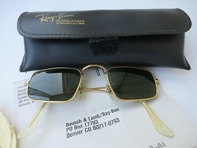RARES  RAY BAN Bausch&lomb vintage W0982 Arista plaqué or  classique collection