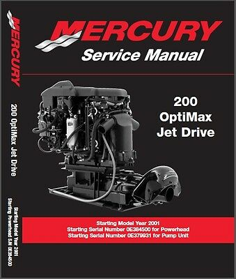 Mercury 200 OptiMax Jet Drive Outboard Motor Service Repair Manual CD