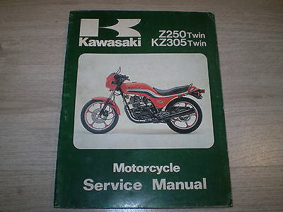 Manuale Officina Originale Kawasaki Z250/kz305 Twin 99924-1019-05
