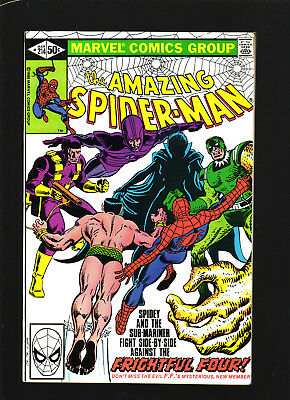 Amazing Spider-Man #214 March 1981 Vfn/nm Sub-Mariner The Frightful Four!