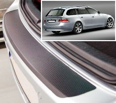 BMW 5 series Touring E61 - Carbon Style rear Bumper Protector