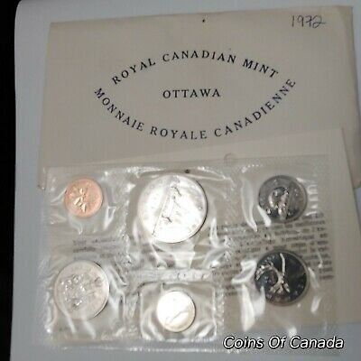 1972 Canada Prooflike 6 Coin Original Set Multiple Sets Available #coinsofcanada