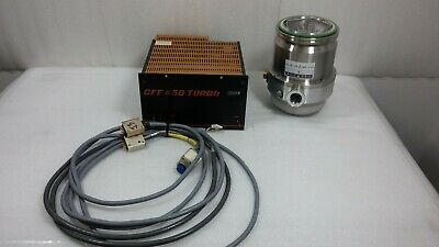 Alcatel PTM-5150 Ceramic Turbo Pump & CFF-450 Pump Controller w/ Cables