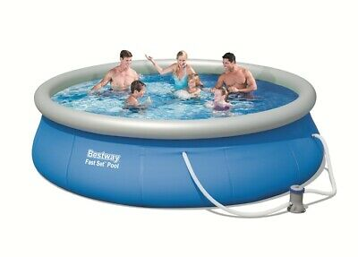 "Bestway Fast Set Round Inflatable Pool Package 13ft x 33"" - 57321"