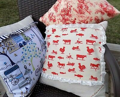 French Country Farm Chic Decorative Pillows Handmade in USA Many Sizes