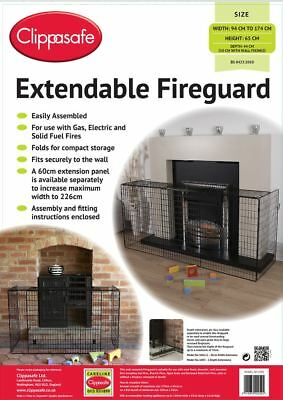 Clippasafe EXTENDABLE FIREGUARD Baby/Child/Toddler Home Safety Proofing BNIB