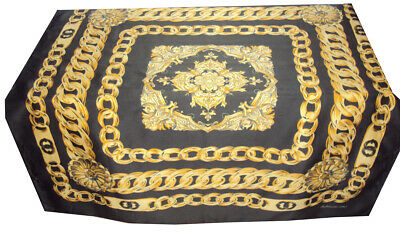 Foulard Petit Carre Femme Synthetique Marron Or Dore Chaines Woman Scarf  Chic e9848f744bf