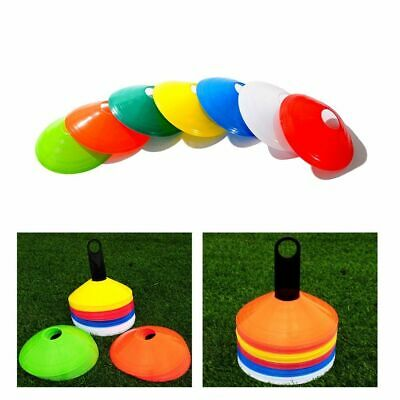 Football Training Marker Cones Soccer Discs Sports 10 Pcs Set Traffic Field