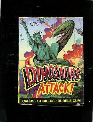 2 - Topps Dinosaurs Attack Boxes - 48 Packs and Poster each box