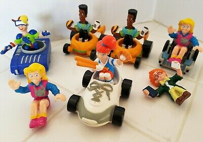 1990 BURGER KING TRANSPORTERS, IQ, BOOMER, KID VID, WHEELIE, SNAPS and JAWS